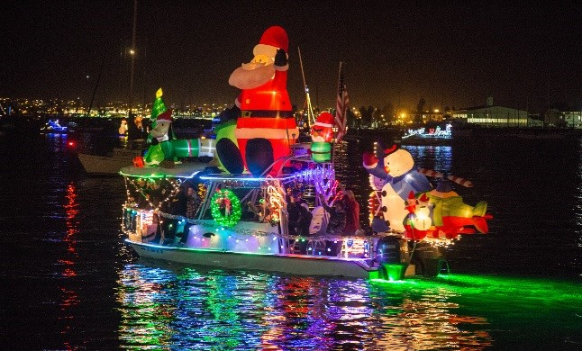 San Diego Christmas Lights.Holiday Lights In San Diego The Dana On Mission Bay